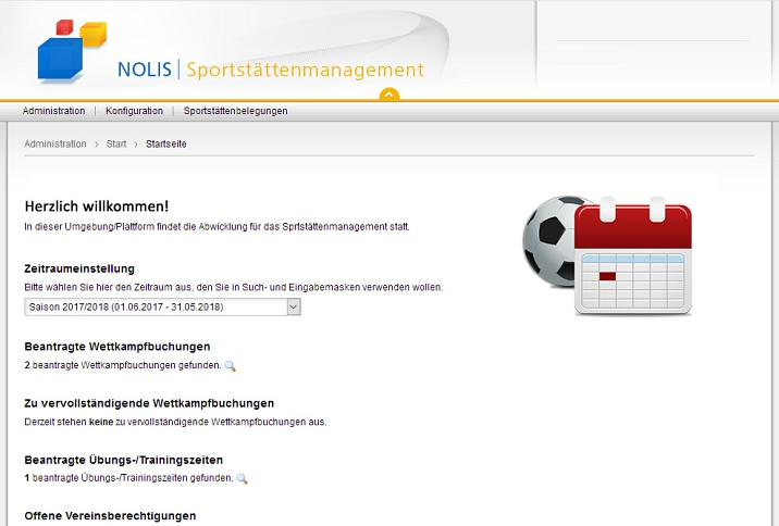 Sportstättenmanagement - NOLIS E-Government Software © NOLIS GmbH